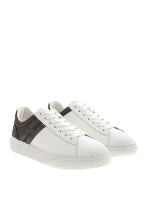 H365 SNEAKERS IN WHITE AND ANTHRACITE HOGAN | 5032238 | HXW3650J971OXE4999