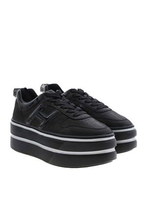H449 SNEAKERS IN BLACK HOGAN | 120000001 | HXW4490BS01N58B999