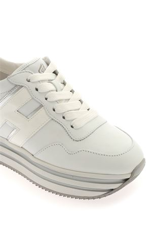MIDI PLATFORM H483 SNEAKERS WHITE AND SILVER HOGAN | 120000001 | HXW4830CB80IEC0351