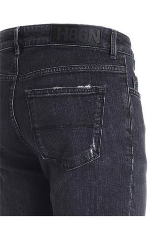FADED JEANS IN BLACK HOGAN | 24 | KPM8241307LTBCB999