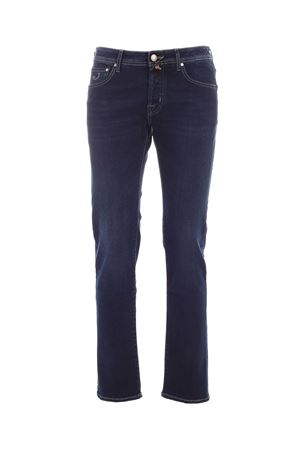 BLACK LOGO FADED JEANS IN BLUE
