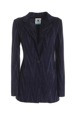 GLITTER EFFECT JACKET IN BLUE