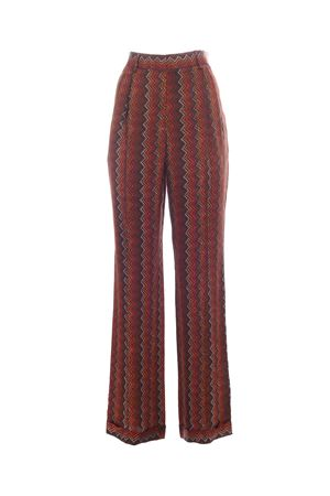 WIDE LEG PANTS IN BROWN M MISSONI | 20000005 | 2DI002262W0067S806R