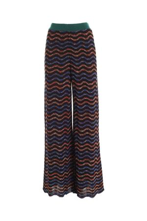 WIDE LEG PANTS IN BLACK, BLUE AND BROWN M MISSONI | 20000005 | 2DI002432K007QS90GX