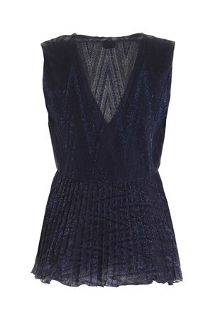 GLITTER EFFECT TOP IN BLUE