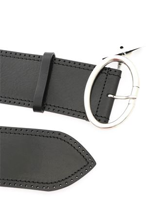 BLACK LEATHER BELT MAX MARA WEEKEND | 22 | 55060104600MM02034002
