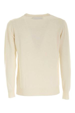 INLAY PULLOVER IN CREAM COLOR MC2 SAINT BARTH | -1384759495 | HERONLIGHTCHON10