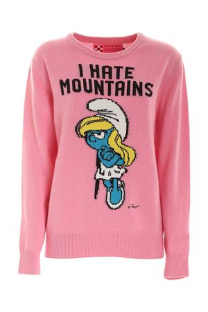 INLAY CREWNECK PULLOVER IN PINK