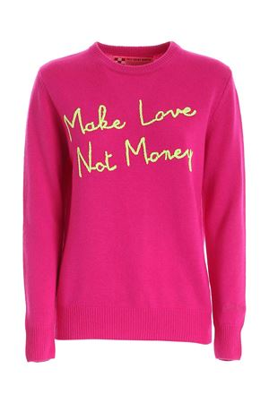 PULLOVER FUCSIA RICAMO MAKE LOVE NOT MONEY QUEENEBML79 MC2 SAINT BARTH | -1384759495 | QUEENEBML79