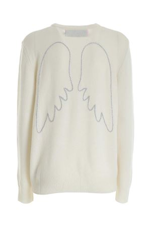 ANGEL EMBROIDERY PULLOVER IN WHITE MC2 SAINT BARTH | -1384759495 | QUEENEMAW1A