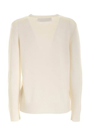PULLOVER GIROCOLLO BIANCO CON RICAMO QUEENEMPF04 MC2 SAINT BARTH | -1384759495 | QUEENEMPF04