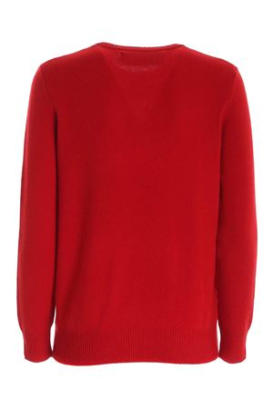 CHRISTMAS MOOD INLAY PULLOVER IN RED MC2 SAINT BARTH | -1384759495 | QUEENXMSN41