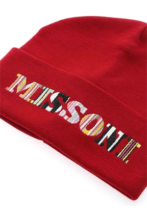 LOGO EMBROIDERY BEANIE IN RED MISSONI | 26 | CPCKWMD76000003