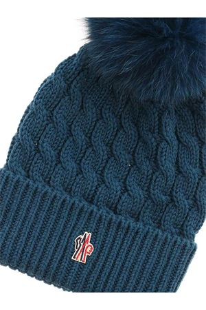 RIBBED BEANIE IN BLUE-GREEN MONCLER GRENOBLE | 26 | 3B700010402A781