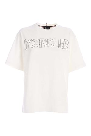 T-SHIRT BIANCA CON STAMPA LOGO 8C701108390T034 MONCLER GRENOBLE | 8 | 8C701108390T034