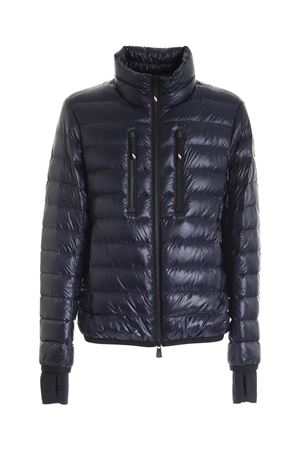 HERS BLUE DOWN JACKET WITH REMOVABLE LOGO PATCH MONCLER | 783955909 | 1A50910539YL776