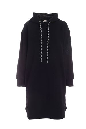 HOODIE DRESS IN BLACK