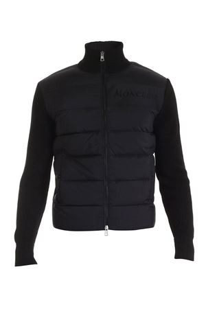 QUILTED CARDIGAN IN BLACK MONCLER | 39 | 9B51600A9422999