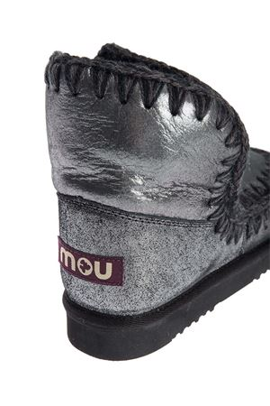ESKIMO 18 ANKLE BOOTS IN METALLIC BLACK