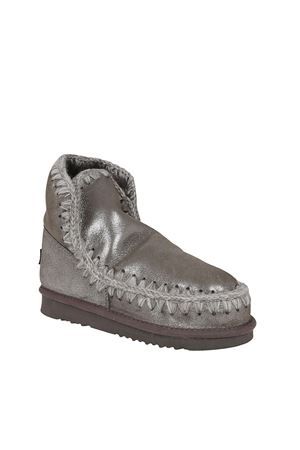 ESKIMO 18 GLITTER DETAILED BOOTIES IN SILVER COLOR