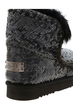 ESKIMO ALL SEQUINS ANKLE BOOTS IN BLACK MOU | 5032248 | 101015GSEQNBK