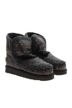 ESKIMO 18 SEQUINED ANKLE BOOTS IN BLACK