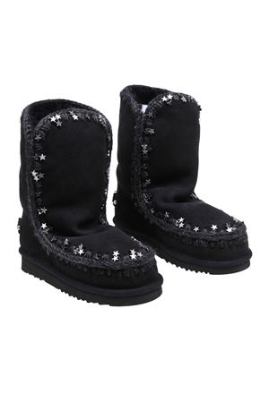 ESKIMO 24 STAR STUDDED BOOTIES IN BLACK