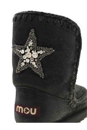 ESKIMO 24 STAR PATCH ANKLE BOOTS IN BLACK