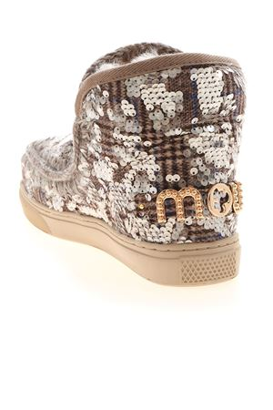 WOOL PLAID AND SEQUINS SNEAKERS IN BROWN MOU | 5032248 | 111018KTASQBE