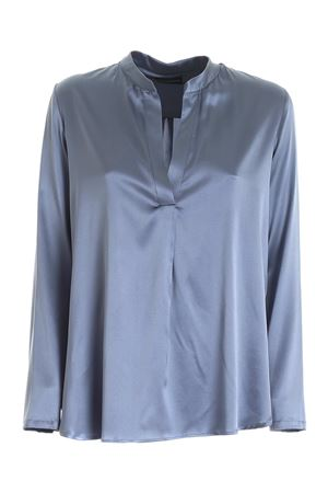 SILK SHIRT IN PALE BLUE COLOR PAOLO FIORILLO CAPRI | 6 | 03422094777