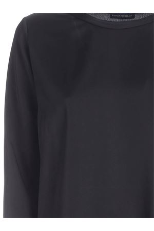 RAW CUT CREWNECK BLOUSE IN BLACK PAOLO FIORILLO CAPRI | 10000004 | 09282701NERO