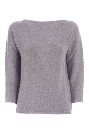 LAMÉ DETAILS PULLOVER IN LIGHT GREY PAOLO FIORILLO CAPRI | -1384759495 | 1325033500061