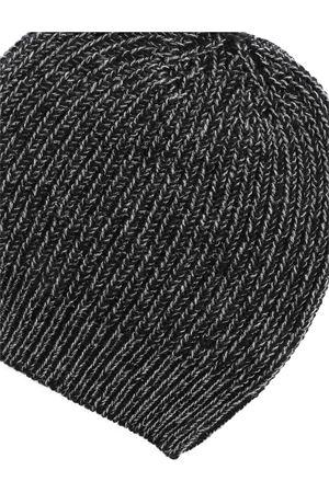 LAMÉ DETAILS BEANIE IN BLACK AND GREY PAOLO FIORILLO CAPRI | 26 | 1421633716178
