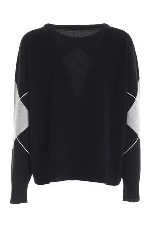 DIAMOND INLAY PULLOVER IN BLACK AND GREY PAOLO FIORILLO CAPRI | -1384759495 | 15170100013