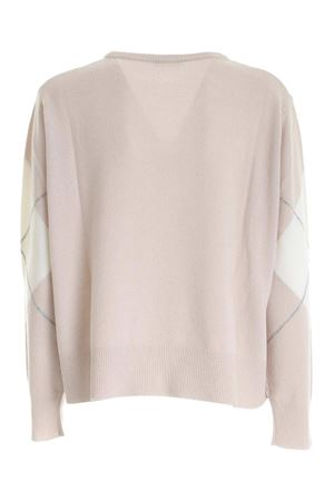 DIAMOND INLAY PULLOVER WITH BEIGE AND WHITE PAOLO FIORILLO CAPRI | -1384759495 | 15170100270