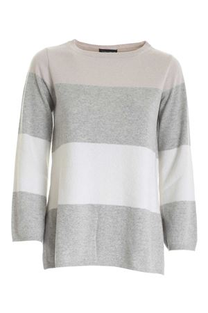 LAMÉ DETAILS PULLOVER IN PINK GREY AND WHITE PAOLO FIORILLO CAPRI | -1384759495 | 15311300029