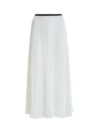 SATIN PLEATED SKIRT IN WHITE PAOLO FIORILLO CAPRI | 15 | 1562L2701BIANCO
