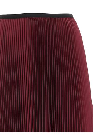 SATIN PLEATED SKIRT IN BURGUNDY COLOR PAOLO FIORILLO CAPRI | 15 | 1562L2701GRANADA