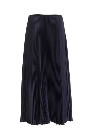 SATIN PLEATED SKIRT IN BLUE PAOLO FIORILLO CAPRI | 15 | 1562L2701NAVY