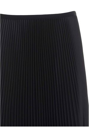SATIN PLEATED SKIRT IN BLACK PAOLO FIORILLO CAPRI | 15 | 1562L2701NERO