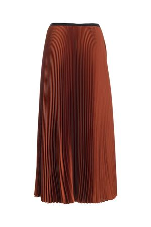 SATIN PLEATED SKIRT IN BROWN PAOLO FIORILLO CAPRI | 15 | 1562L2701TERRADISIENA