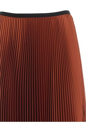 SATIN PLEATED SKIRT IN BROWN PAOLO FIORILLO CAPRI | 15 | 1562L2701TERRADISIENA