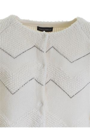 MINI STUDS CARDIGAN IN WHITE PAOLO FIORILLO CAPRI | 39 | 17255800706