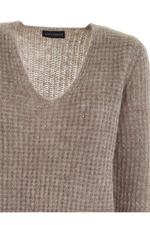 SEQUINS RIBBED PULLOVER IN BROWN PAOLO FIORILLO CAPRI | -1384759495 | 17420200011