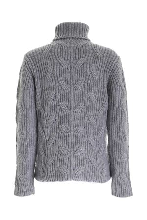 CABLE KNITTING TURTLENECK IN GREY PAOLO FIORILLO CAPRI | 10000016 | 18000500032