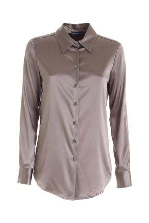 SILK SHIRT IN MUD COLOR PAOLO FIORILLO CAPRI | 6 | 23332094938