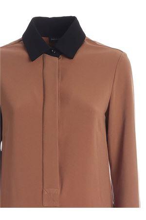 SHIRT DRESS IN BLACK AND CAMEL COLOR PAOLO FIORILLO CAPRI | 11 | 256622215834
