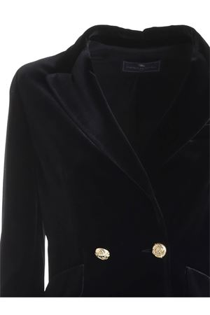 DOUBLE-BREASTED VELVET JACKET IN BLACK PAOLO FIORILLO CAPRI | 3 | 2857289412