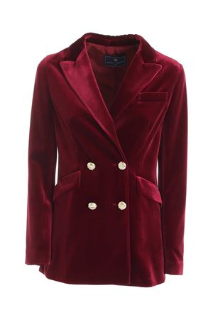 DOUBLE-BREASTED VELVET JACKET IN BURGUNDY PAOLO FIORILLO CAPRI | 3 | 2857289465