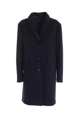 SINGLE-BREASTED COAT IN BLUE PAOLO FIORILLO CAPRI | 17 | 306827300054